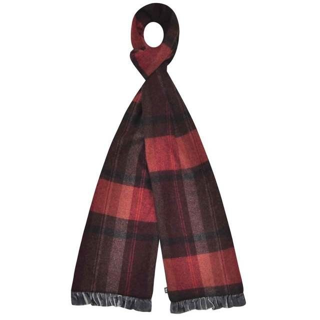 Earth Squared Gloves And Scarves - Red multi - 1602/81 TWEED SCARF