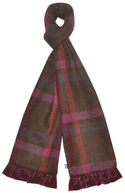 Earth Squared Tweed  Scarf 1602-91 Mulberry accessories