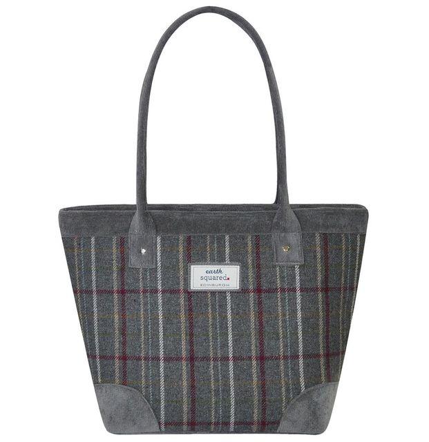 Earth Squared Tweed Tote Bag 1901-00 Grey multi handbag