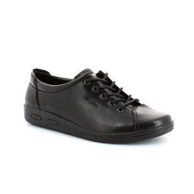 ECCO Also Soft 009473-00101 Black lacing shoes
