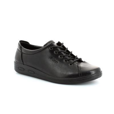 ECCO Also Soft 009473-00101 Black lacing shoes