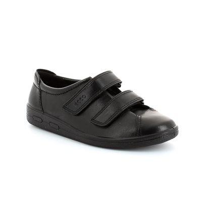 ECCO Also Strap 012573-00101 Black lacing shoes