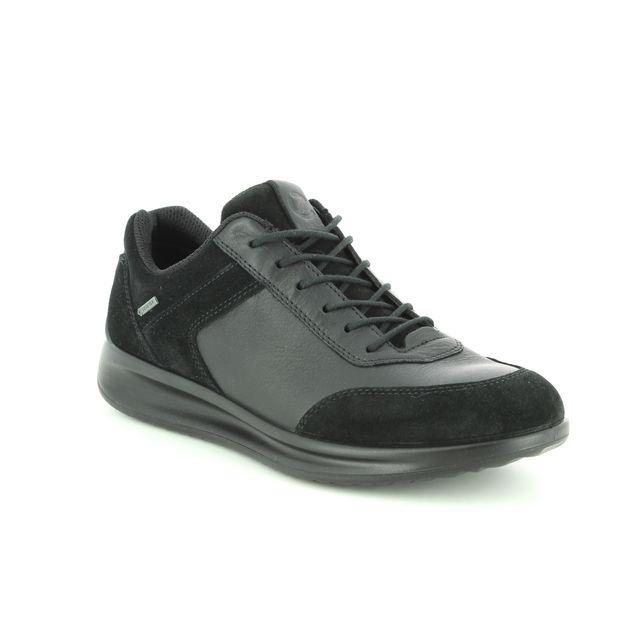 ECCO Lacing Shoes - Black leather - 207103/51052 AQUET GORE-TEX