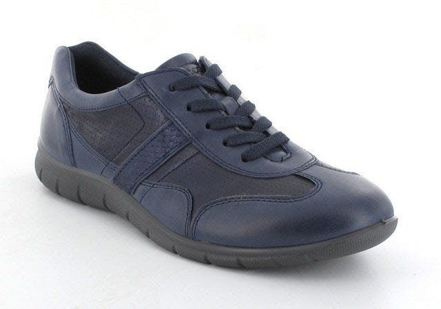 ECCO Babe Run 210263-58750 Navy multi lacing shoes