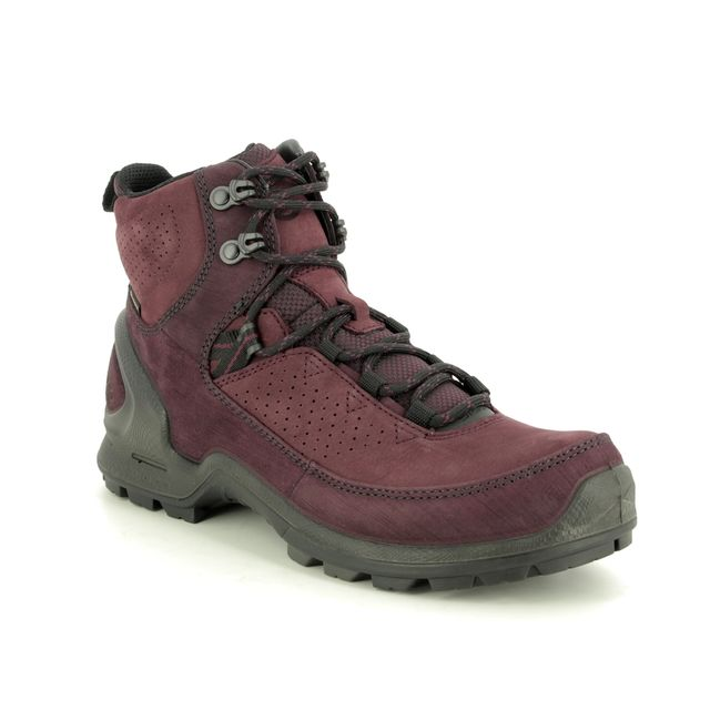 ECCO Walking Boots - Wine leather - 823583/51513 BIOM BOOT L GTX