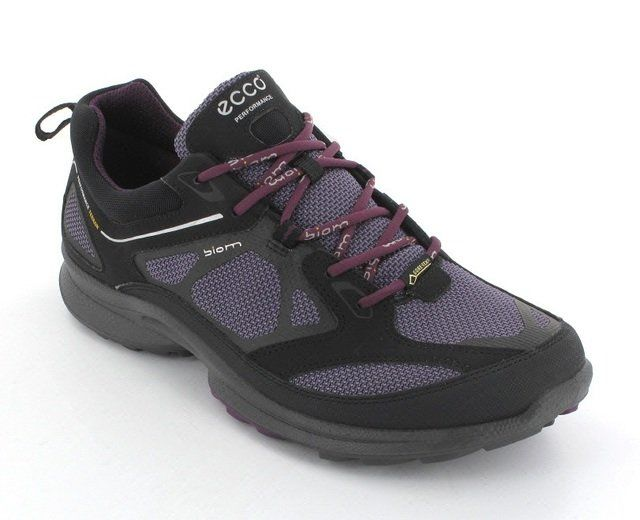 ECCO Biom Ultra Gor 840013-58641 Black-purple combi lacing shoes