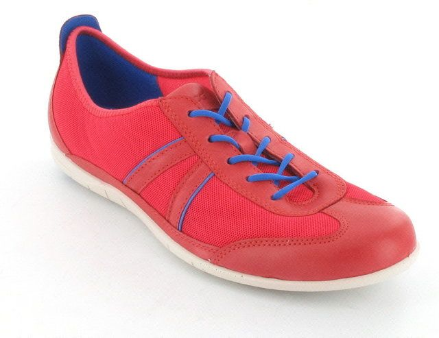 ECCO Bluma Lace Fab 230723-58337 Coral pink lacing shoes