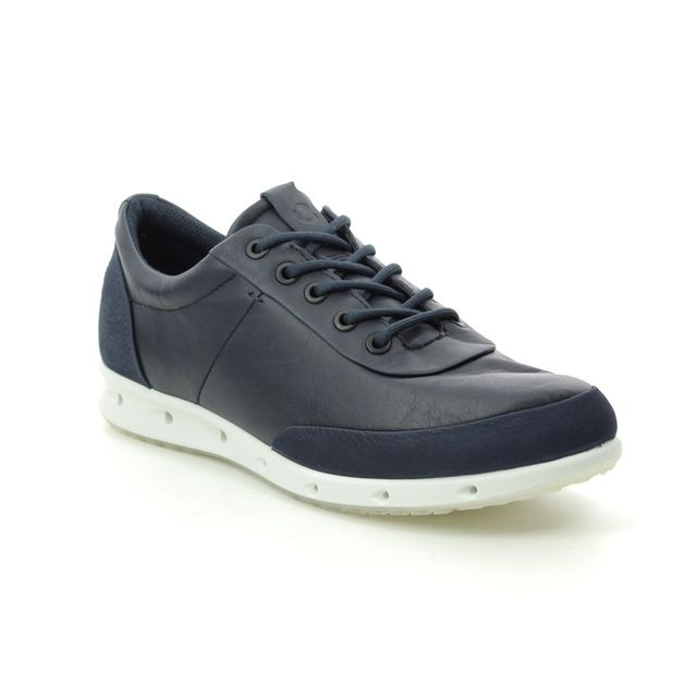ECCO Trainers - Navy Leather - 831383/51117 COOL GORE