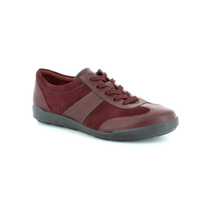 ECCO Crisp 52 214553-52999 Wine lacing shoes