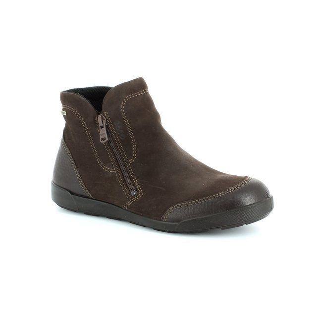 ECCO Crispboot Gore 214523-58290 Brown ankle boots