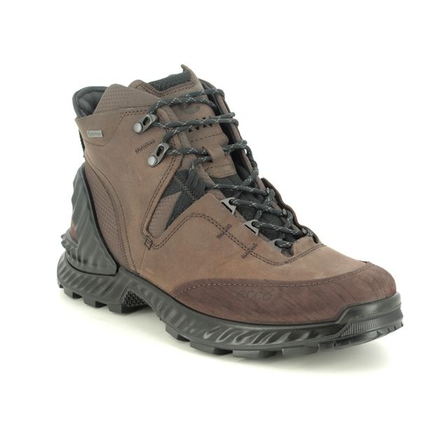 ECCO Outdoor Walking Boots - Brown leather - 840734/59300 EXOHIKE MENS BOOTS GORE