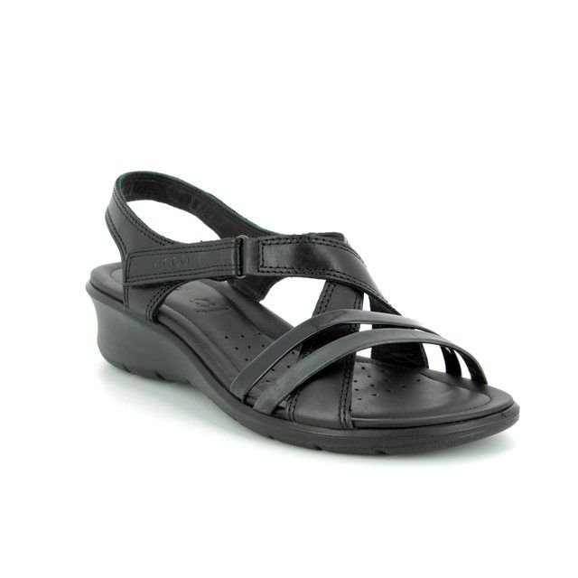 ECCO Wedge Sandals - Black - 216513/51707 FELICIA SANDAL