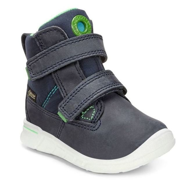 ECCO First Shoes - Denim blue - 754131/50595 FIRST HOLE GORE-TEX