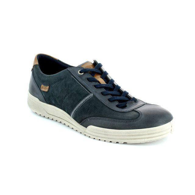 ECCO Fraser 61 539534-53579 Navy/tan casual shoes
