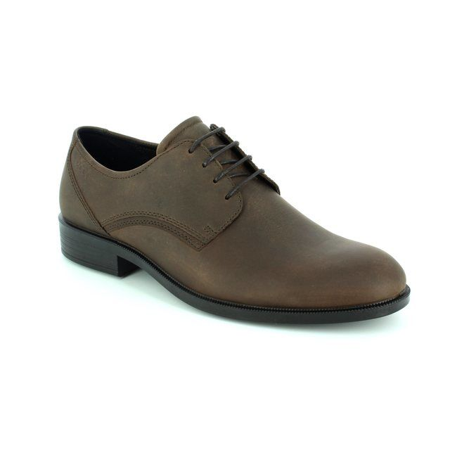 ECCO Formal Shoes - Brown nubuck - 634584/51869 HAROLD