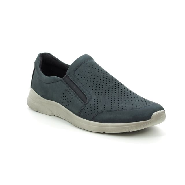 ECCO Casual Shoes - Navy Nubuck - 511644/02058 IRVING SLIP-ON