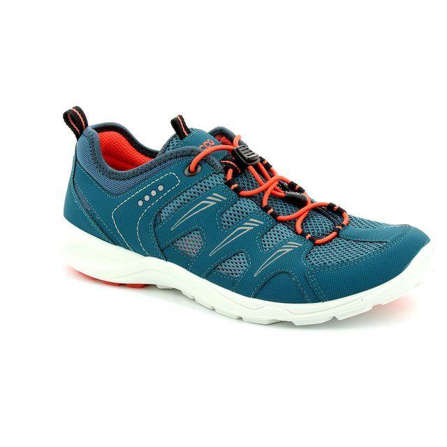 ECCO L Terracru 841033-53045 Petrol blue trainers