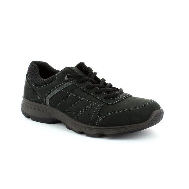 ECCO Light 52 836014-57099 Black waxy casual shoes