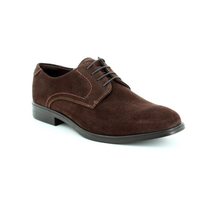 ECCO Formal Shoes - Brown suede or snake - 621634/05072 MELBOURNE