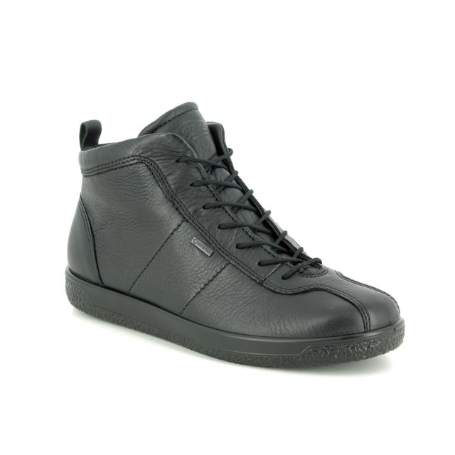 ECCO Ankle Boots - Black leather - 400663/01001 SOFT 1 GORE