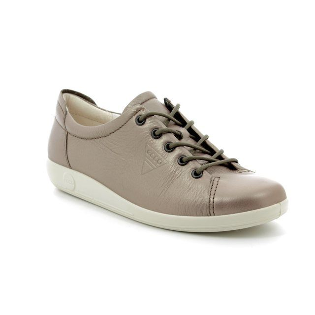 ECCO Lacing Shoes - Pewter - 206503/01375 SOFT 2.0