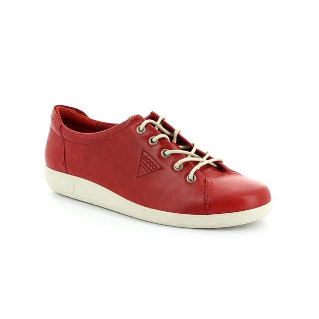ECCO SOFT 2.0 206503-01466 Red lacing shoes