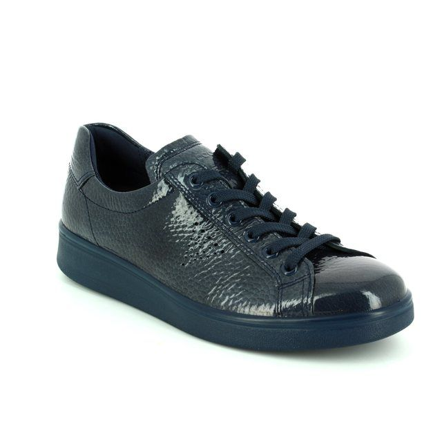 ECCO Lacing Shoes - Grey patent - SOFT 4 218033/01415