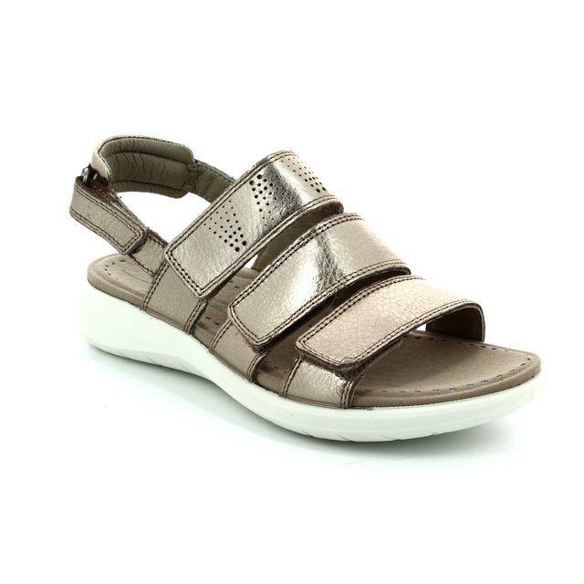 ECCO Soft 5 Sandal 218523-01375 Pewter walking sandals