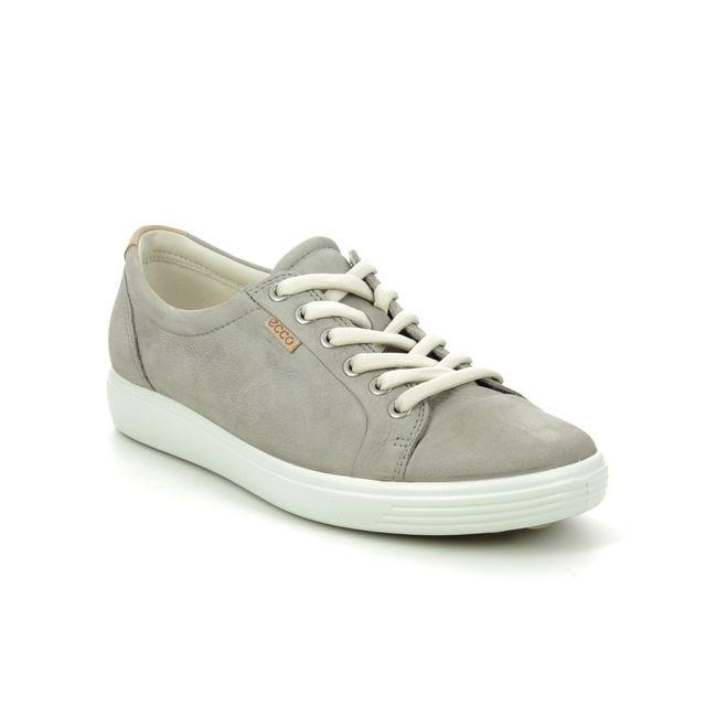 ECCO Soft 7 Lace 430003-02375 Grey nubuck lacing shoes