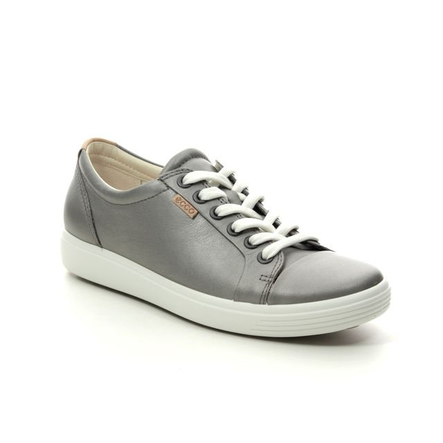 ECCO Trainers - Pewter - 430003/51147 SOFT 7 LACE
