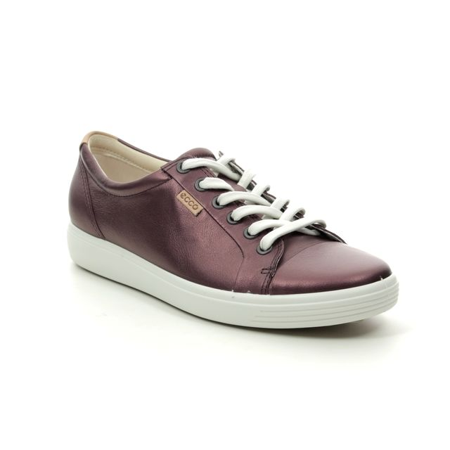 ECCO Trainers - Wine leather - 430003/51485 SOFT 7 LACE