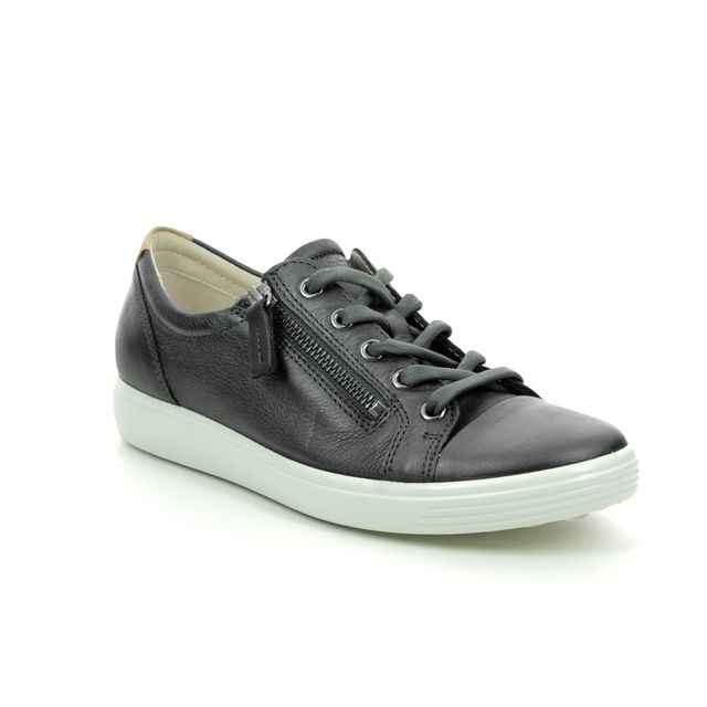 ECCO Lacing Shoes - Metallic leather - 430853/51383 SOFT 7 LACE ZIP