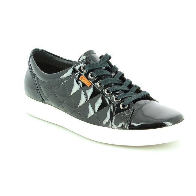 ECCO Lacing Shoes - Black patent - 430083/58636 SOFT 7 LADIES