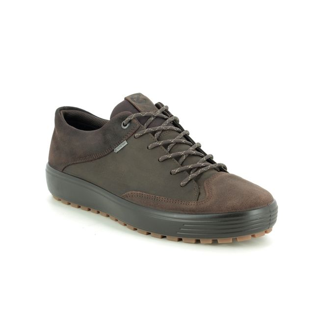 ECCO Casual Shoes - Brown leather - 450104/51869 SOFT 7 M GORE