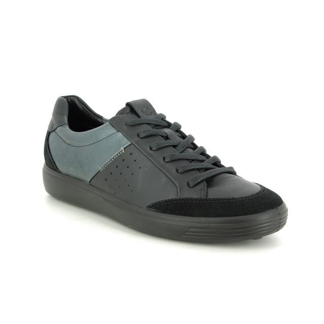 ECCO Trainers - Black leather - 430723/51094 SOFT 7 STITCH