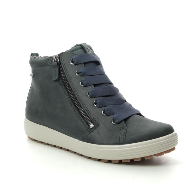 ECCO Ankle Boots - Navy Nubuck - 450163/02038 SOFT 7 TRED GTX