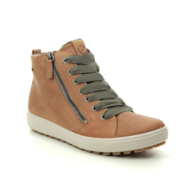 ECCO Ankle Boots - Tan nubuck - 450163/02291 SOFT 7 TRED GTX