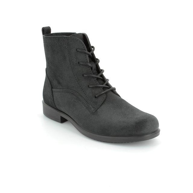 ECCO Touch25 Lace 264533-05001 Black suede ankle boots