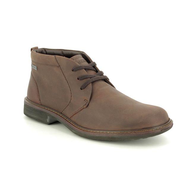ECCO Boots - Brown leather - 510224/02482 TURN CHUKKA GTX