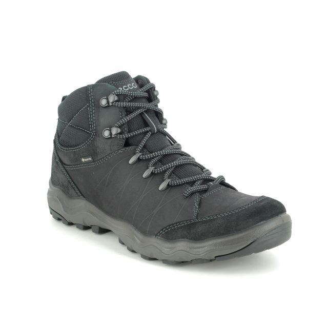 ECCO Outdoor Walking Boots - Black leather - 823224/51052 ULTERRA MENS GORE