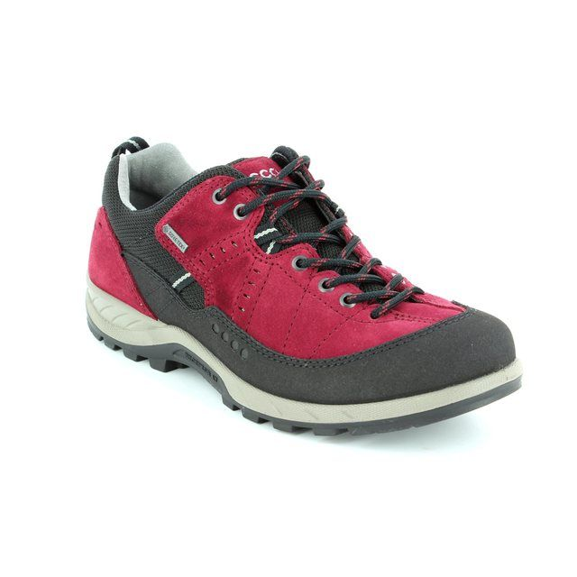 ECCO Walking Shoes - Black wine - 840603/59227 YURA GORE-TEX