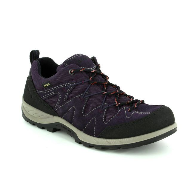 ECCO Yura GORE-TEX 840663-56343 Black-purple combi lacing shoes