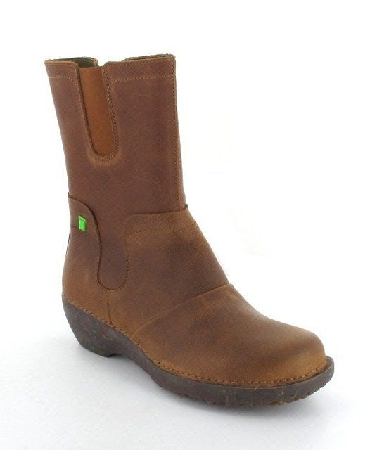 El Naturalista Wedgel NC71 -20 Tan long boots