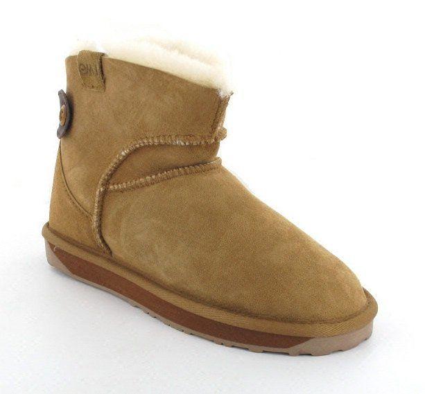 EMU Australia Alba Mini Mini W10835-10 Chestnut Brown ankle boots