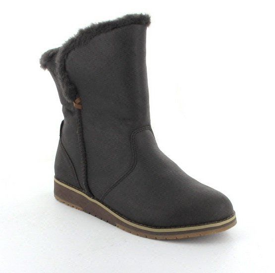 EMU Australia Beach Lo W11025-20 Chocolate brown ankle boots