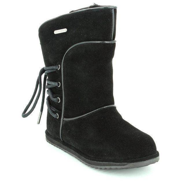 EMU Australia Boots - Black suede - K11309/20 ISLAY KIDS