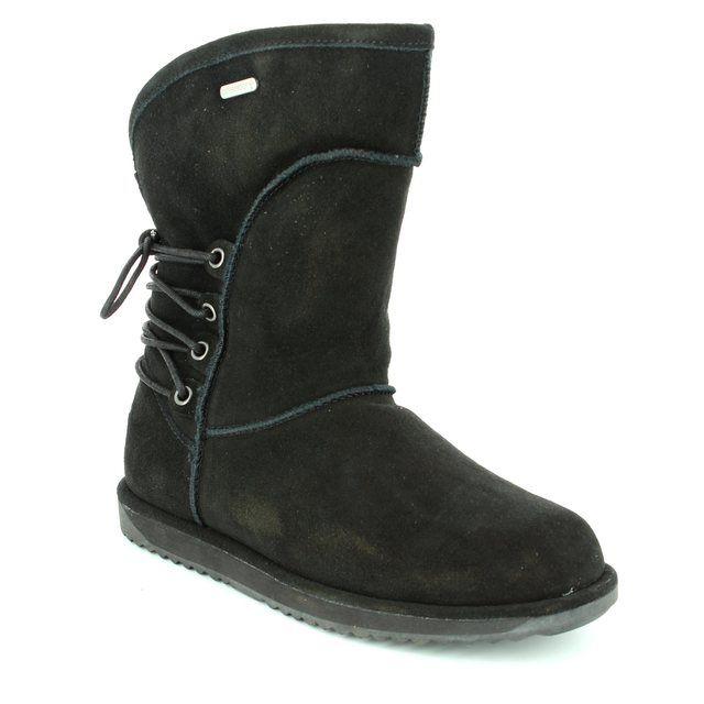 EMU Australia Ankle Boots - Black suede - W11245/30 ISLAY