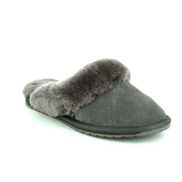 EMU Australia Jolie W10015-00 Grey-suede slipper mules