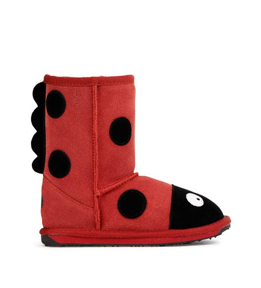 EMU Australia Ladybird K10111-80 Red suede boots