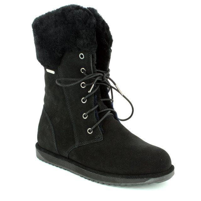 EMU Australia Shoreline W11249-30 Black suede ankle boots